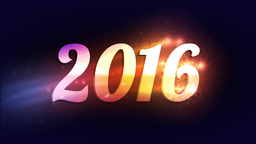 "Colorful Lights Reveal ""2016"" stock footage"