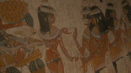 Ancient Egypt Wall Paintings Footage