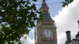 Big Ben clock tower, Westminster, London Footage