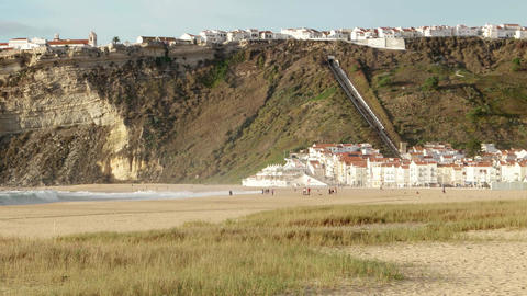 Beach Of Nazare, Portugal stock footage