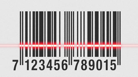 Scanning Barcode On Cardboard stock footage