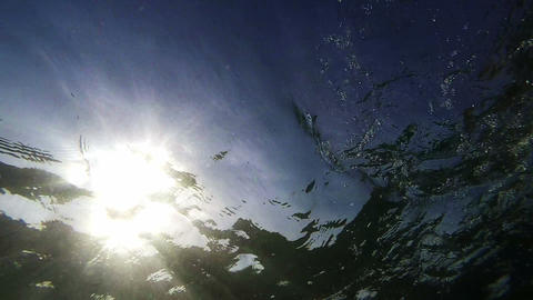 Sun from water Footage