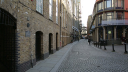 Shad Thames Street View With People Commuting Two stock footage