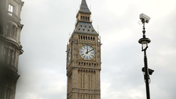 Westminster clock pan Footage