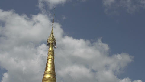 Nyaung Shwe, Temple Complex, Detail Of Point stock footage