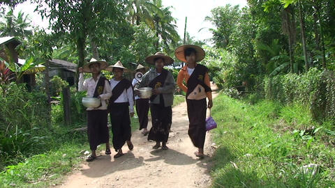 Pathein, Women Collect Money For Party With Scales stock footage