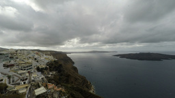 Santorini In A Pan Zoom stock footage