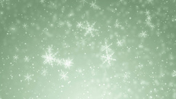 Beautiful Green Winter Background With Snowflakes stock footage