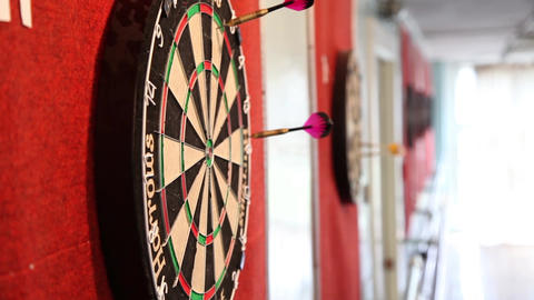 Darts 1 stock footage