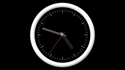 Animated Clock Countdown 12 Hours Over 60 Seconds. Seamlessly Loops. Time Lapse stock footage