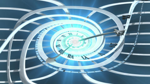 Looping Spiral Clock Invert stock footage