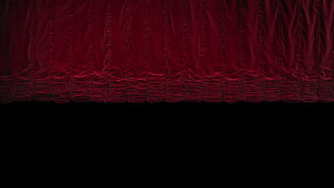 Red Austrian Curtain Falls/closing stock footage
