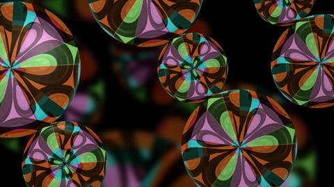Sixties Pop Retro Flower psychedelic VJ Loop Footage