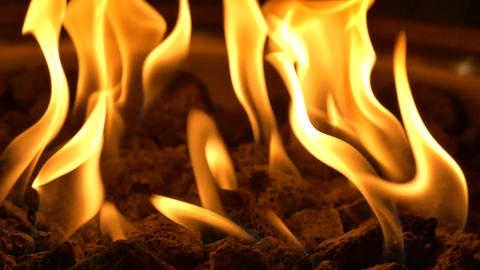 Event Fireplace Flame - Loop - 07 stock footage