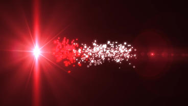 Merry Christmas Red Light Shiny Magic Particles Logo Reveal Intro stock footage