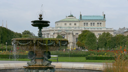 The Volksgarten Park And Burgtheater, Austria, Europe stock footage