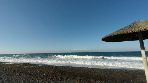 Koulombus Beach On Santorini stock footage