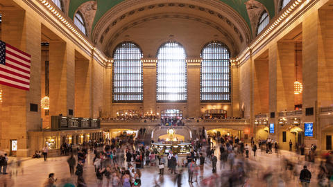 Timelapse of crowd in Grand central Station in Manhattan New York USA Footage