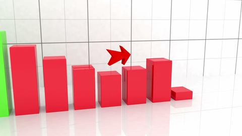 Growth Graph With Arrow stock footage