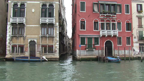 Live Painting.Venice Italy. Canals Gondolas Bridges stock footage