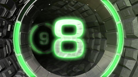 Round Tunnel Countdown Leader Animation