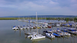 Port Of Jois, Burgenland, Austria stock footage