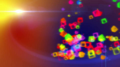 Colored Cubes In Colored Background stock footage