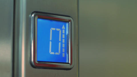 Pressing Button On Elevator Panel stock footage