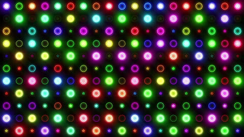 Christmas VJ Colorful Lights Flashing Stage Animation