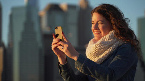 Woman With Cell Phone stock footage