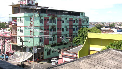 High Angle View Of Hotel stock footage