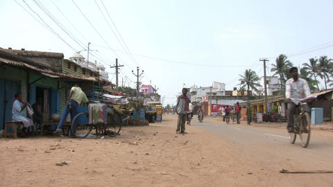 Street Scene In A Rural Area stock footage