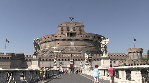 Castel Sant'Angelo, Rome, Italy stock footage