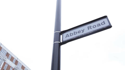 Road Sign, Abbey Road stock footage