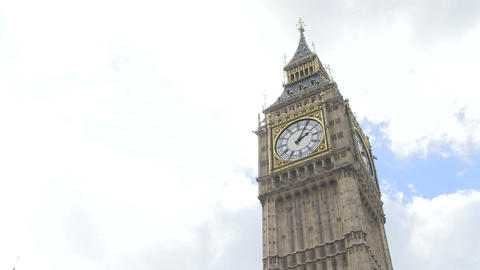Low Angle View Of Big Ben stock footage