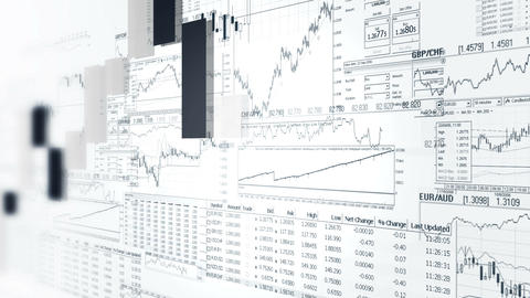 Finance Bar Graphs. Market Analyze. Business Analytics Background stock footage