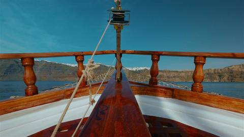 Sailing Through The Mediterranean Low Angle POV stock footage