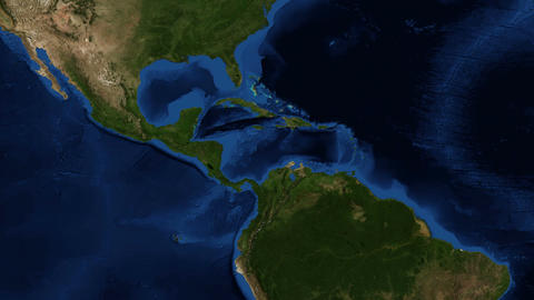 Central America from space - zoom Footage