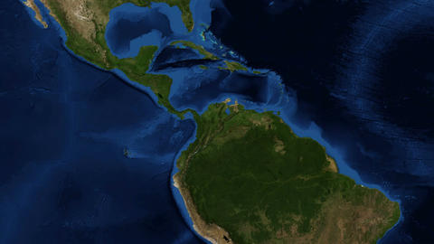 Central America from space Footage