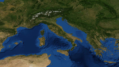Italy From Space Slow - Zoom stock footage