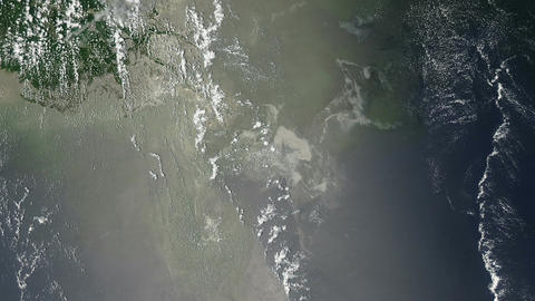 Oil Slick in the Gulf of Mexico From Space Footage
